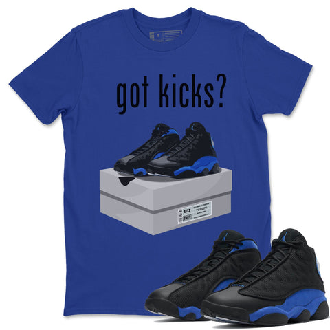 Got Kicks T-Shirt - Air Jordan 13 Retro Black Hyper Royal Air Jordan 13 Unisex Crew Neck T Shirt Jordan 13 Retro Hyper Royal Royal Blue Tee