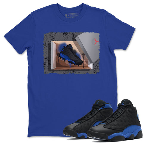 New Kicks T-Shirt - Air Jordan 13 Retro Black Hyper Royal Air Jordan 13 Unisex Crew Neck T Shirt Jordan 13 Retro Hyper Royal Royal Blue Tee