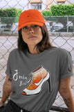 Air Jordan 13 Retro Starfish Sneaker Crew Neck Unisex T Shirt Matching Outfits AJ13 Orange Jordan Bitch Short Sleeve Tees 13s White Orange Black Image Cool Grey S 3