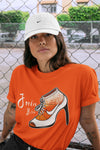Air Jordan 13 Retro Starfish Sneaker Crew Neck Unisex T Shirt Matching Outfits AJ13 Orange Jordan Bitch Short Sleeve Tees 13s White Orange Black Image Orange S 3