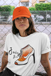 Air Jordan 13 Retro Starfish Sneaker Crew Neck Unisex T Shirt Matching Outfits AJ13 Orange Jordan Bitch Short Sleeve Tees 13s White Orange Black Image White S 3