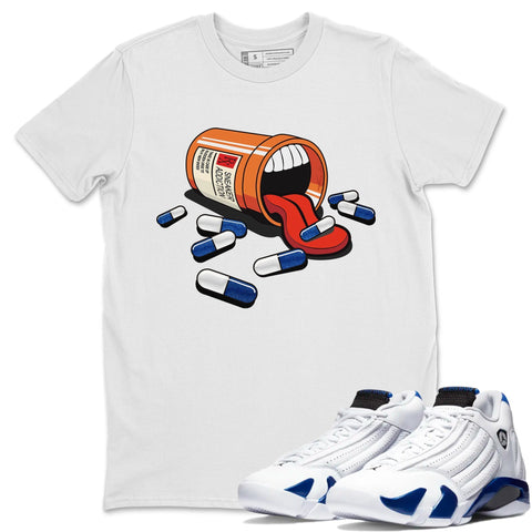 Air Jordan 14 Hyper Royal Sneaker Shirts And Sneaker Matching Outfits Shoe Shoe Addiction White T Shirt Image