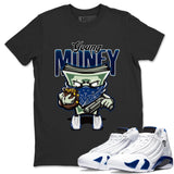 Air Jordan 14 Hyper Royal Sneaker Shirts And Sneaker Matching Outfits Young Money Black T Shirt Image