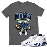 Air Jordan 14 Hyper Royal Sneaker Shirts And Sneaker Matching Outfits Young Money Cool Grey T Shirt Image