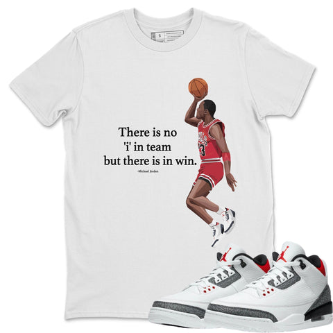 Air Jordan 3 SE Fire Red Sneaker Matching Tee and Outfit Michael Jordan White T Shirt Image