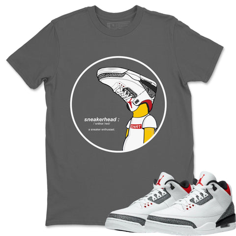 Air Jordan 3 SE Fire Red Sneaker Matching Tee And Outfit Michael Jordan Cool Grey T Shirt Image