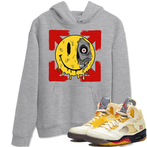 Air Jordan 5 Off White Sail Fire Red Collabs Sneaker Long Sleeve Hoodies And Outfits Dead Inside Heather Grey Shirts S