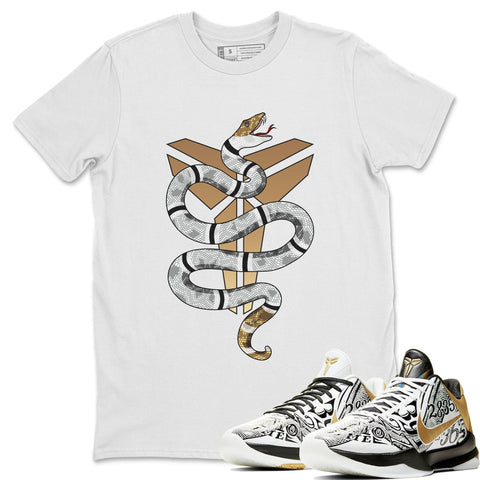 Nike Kobe 5 Protro Mamba Week Big Stage Sneaker Matching Outfit and Tees Snake White Shirt Image