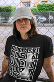 Air Jordan 1 High OG WMNS Silver Toe Queen Crew Neck T-Shirt Matching Unisex Outfits 1s Women's Silver Toe Image Black Short Sleeve Tees 4