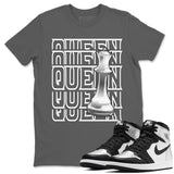 Air Jordan 1 High OG WMNS Silver Toe Queen Crew Neck T-Shirt Matching Unisex Outfits 1s Women's Silver Toe Image Cool Grey Short Sleeve Tees