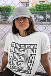 Air Jordan 1 High OG WMNS Silver Toe Queen Crew Neck T-Shirt Matching Unisex Outfits 1s Women's Silver Toe Image White Short Sleeve Tees 4