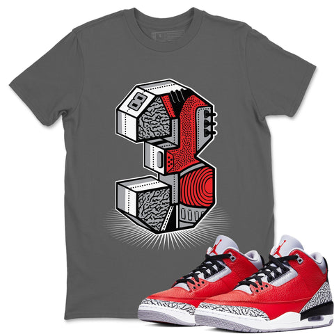 Three Statue Cool Grey T-Shirt - Air Jordan 3 Unite Air Jordan 3 Shirt Jordan 3 Unite