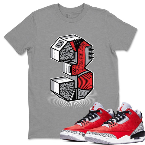 Three Statue Heather Grey T-Shirt - Air Jordan 3 Unite Air Jordan 3 Shirt Jordan 3 Unite