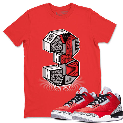 Three Statue Red T-Shirt - Air Jordan 3 Unite Air Jordan 3 Shirt Jordan 3 Unite