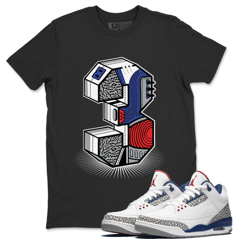 Three Statue Black T-Shirt - Air Jordan 3 True Blue Air Jordan 3 Shirt Jordan 3 True Blue