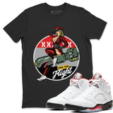 Pin Up Girl T-Shirt - Air Jordan 5 Fire Red Air Jordan 5 Shirt Jordan 5 Fire Red Black S