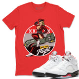 Pin Up Girl T-Shirt - Air Jordan 5 Fire Red Air Jordan 5 Shirt Jordan 5 Fire Red Red S