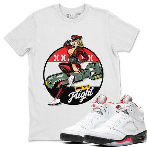 Pin Up Girl T-Shirt - Air Jordan 5 Fire Red Air Jordan 5 Shirt Jordan 5 Fire Red White S