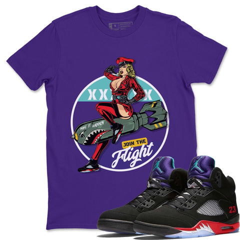 Pin Up Girl T-Shirt - Air Jordan 5 Top 3 Air Jordan 5 Shirt Jordan 5 Top 3 Purple S