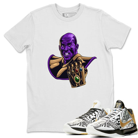 Nike Kobe 5 Protro Mamba Week Big Stage Sneaker Matching Outfit and Tees Kobe Rings White Shirt Image