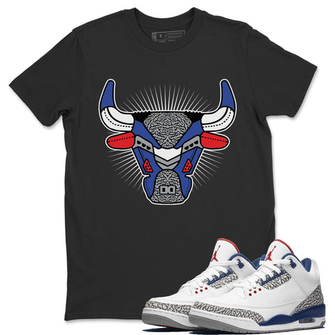Bull Head Black T-Shirt - Air Jordan 3 True Blue Air Jordan 3 Shirt Jordan 3 True Blue