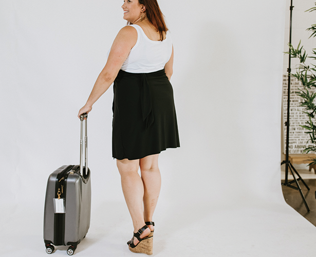 Carry-On Short Wrap Skirt