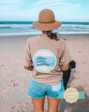 Load image into Gallery viewer, salty vintage cotton unisex tee - sand - PRE ORDER