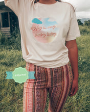 Load image into Gallery viewer, brain fog vintage unisex organic cotton tee - desert dust - PRE ORDER