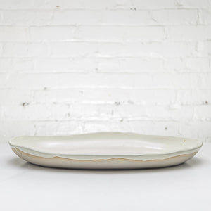 Deep Oval Porcelain Platter - Connor McGinn Studios