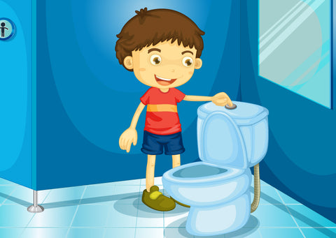 teach boys to pee standing up