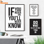 Motivational + Inspiring Quotes Canvas - Wall Art