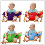 Baby Portable Seat Kids Chair Travel Foldable Washable Infant Dining High Dinning Cover Seat Safety Belt Auxiliary belt