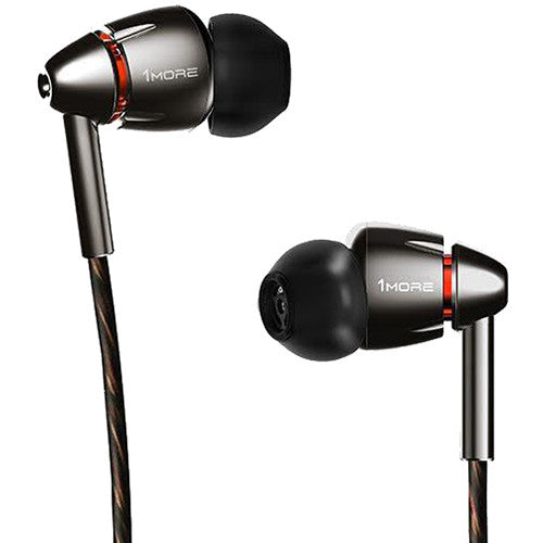 1MORE Quad Driver In-Ear Headphones (Gunmetal/Silver)