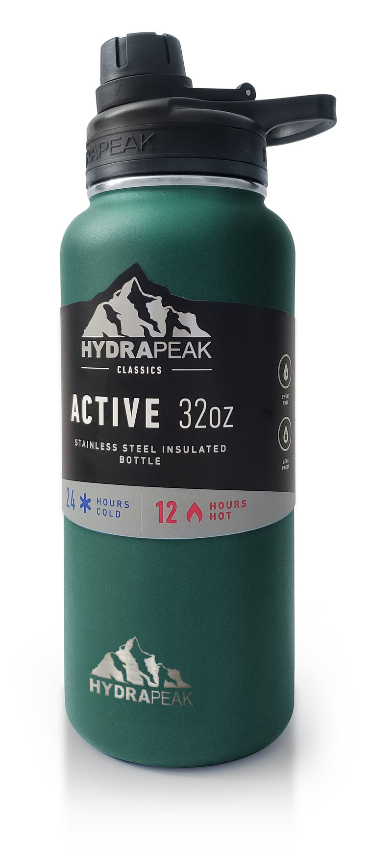 Hydrapeak 32oz Vacuum Insulated Stainless Steel Water Bottle - Aqua