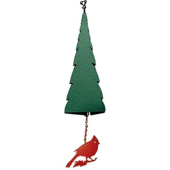 North Country Wind Bells Pointed Fir of the North™ with Cardinal - 3 Tones