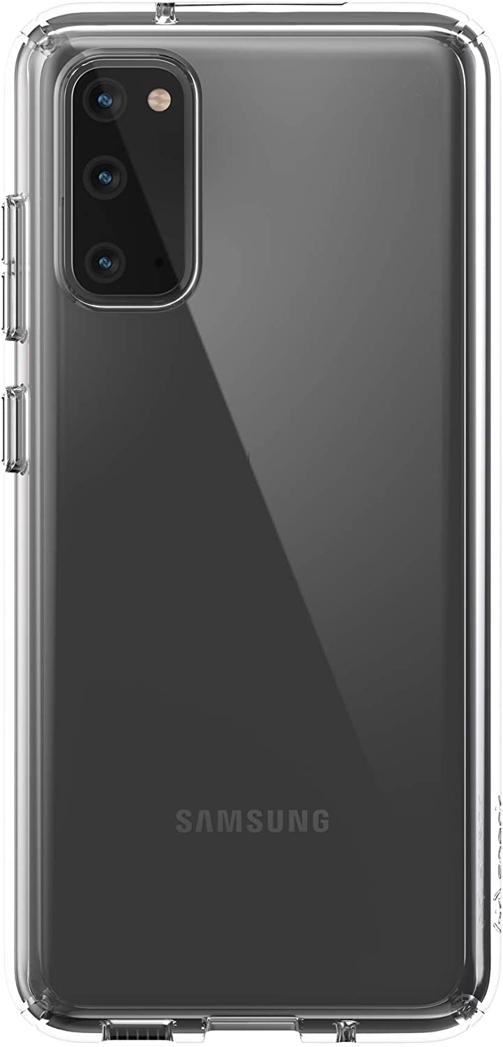 Speck Products Presidio Perfect-Clear Samsung Galaxy S20 Case, Clear/Clear