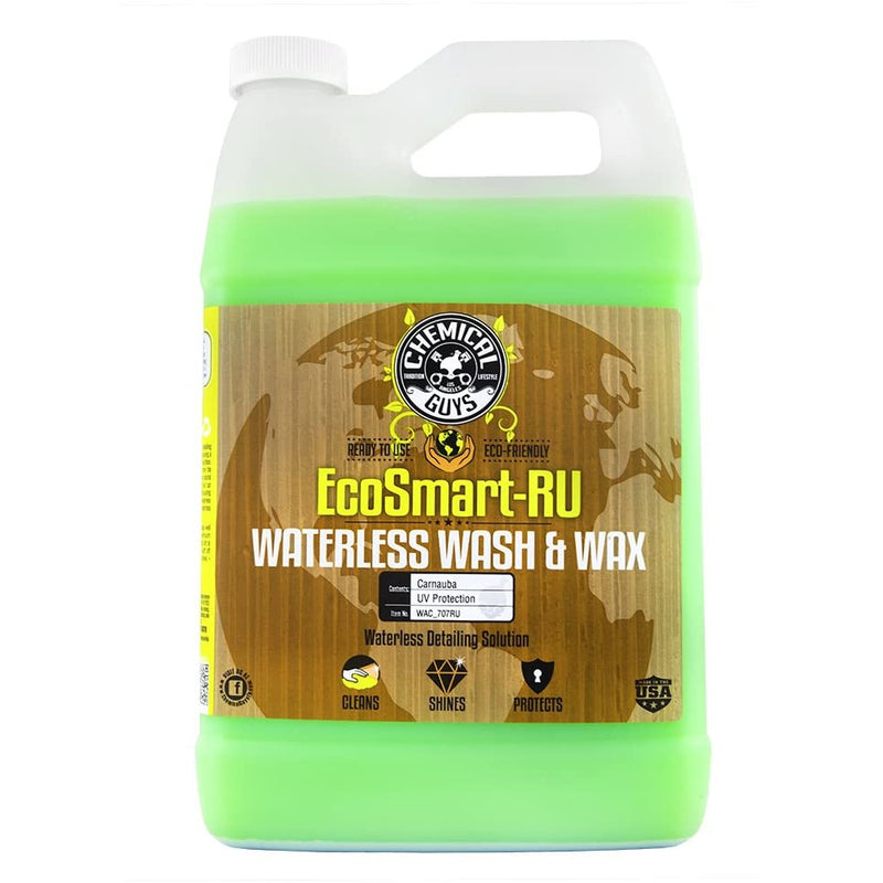 Chemical Guys WAC_707RU EcoSmart-RU Waterless Car Wash and Wax (1 Gal)