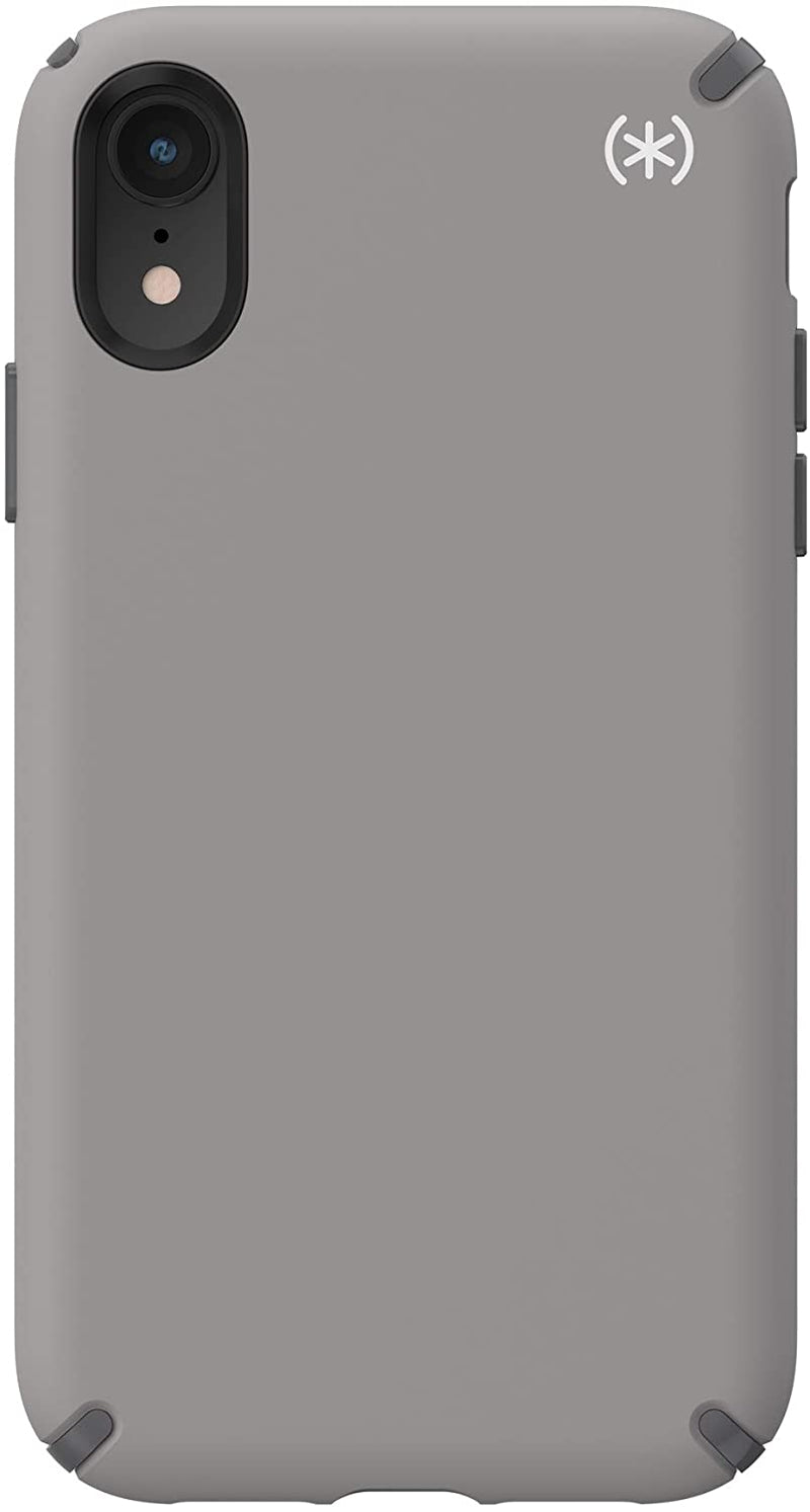 Speck Presidio2 PRO Case for  iPhone XR - Cathedral Grey/Graphite Grey/White