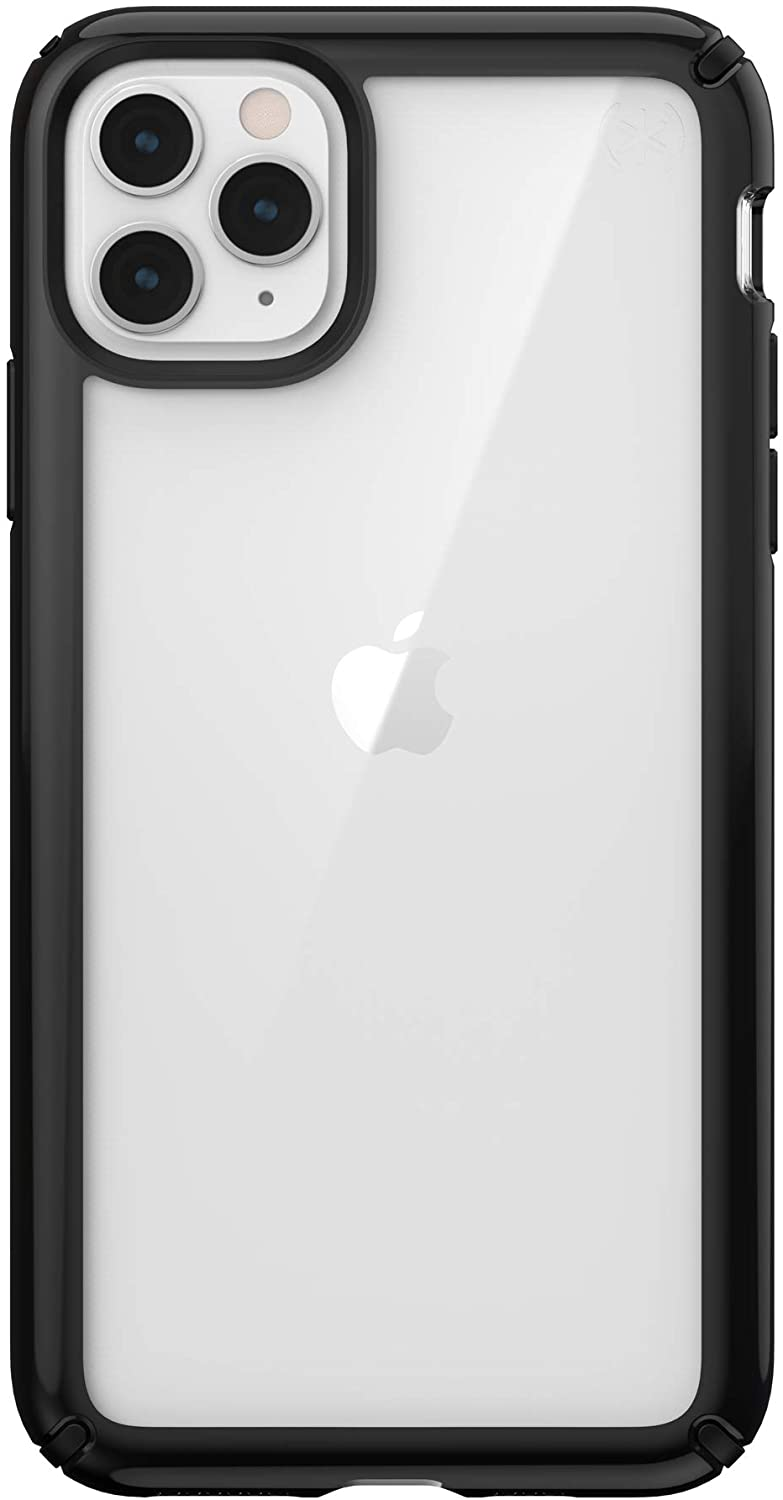 Speck Presidio Show iPhone 11 Pro Max Case, Clear/Black
