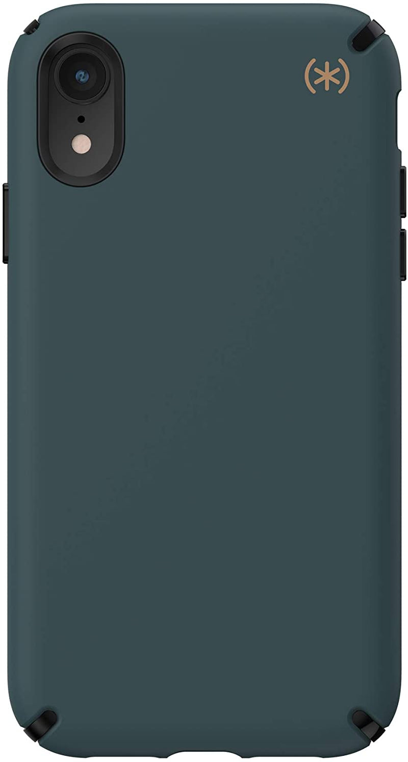 Speck Presidio2 PRO Case for iPhone XR - Terrain Green/Black/Caramel Brown