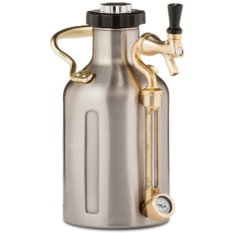 GrowlerWerks Stainless Steel uKeg Carbonated Growler, 64 oz