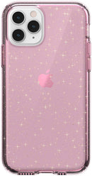 Speck Presidio Clear iPhone Case for Apple iPhone 11 Pro - Glitter Case, Bella Pink