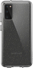 Speck Presidio Perfect-Clear Glitter Samsung Galaxy S20 Case - Clear with Gold Glitter/Clear