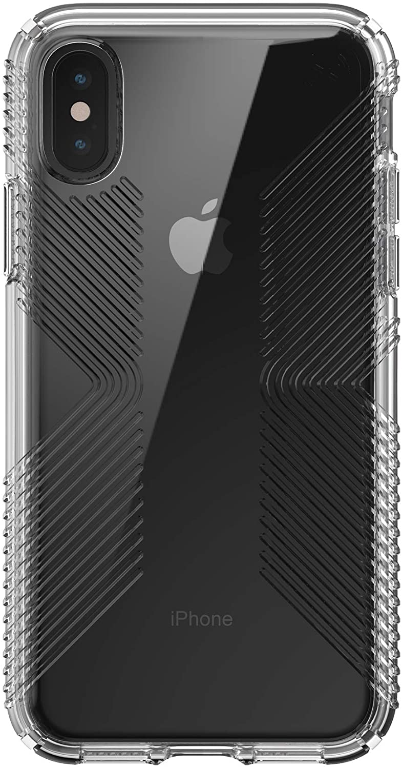 Speck Presidio Perfect-Clear with Grip Case for iPhone Xs/X - Clear/Clear