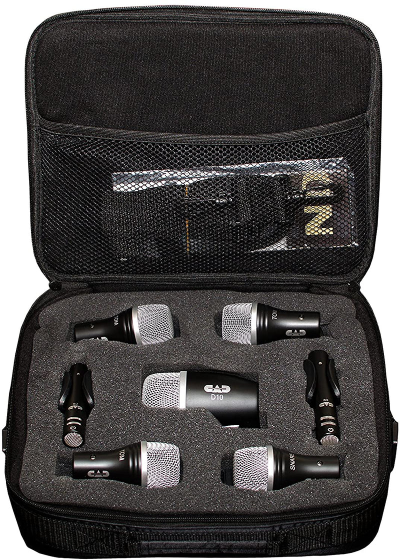 CAD Audio Stage7  7 Piece Drum Mic Pack - Includes Kick Mic, Snare Mic, 3 Tom Mics and 2 Overhead Condenser Mics