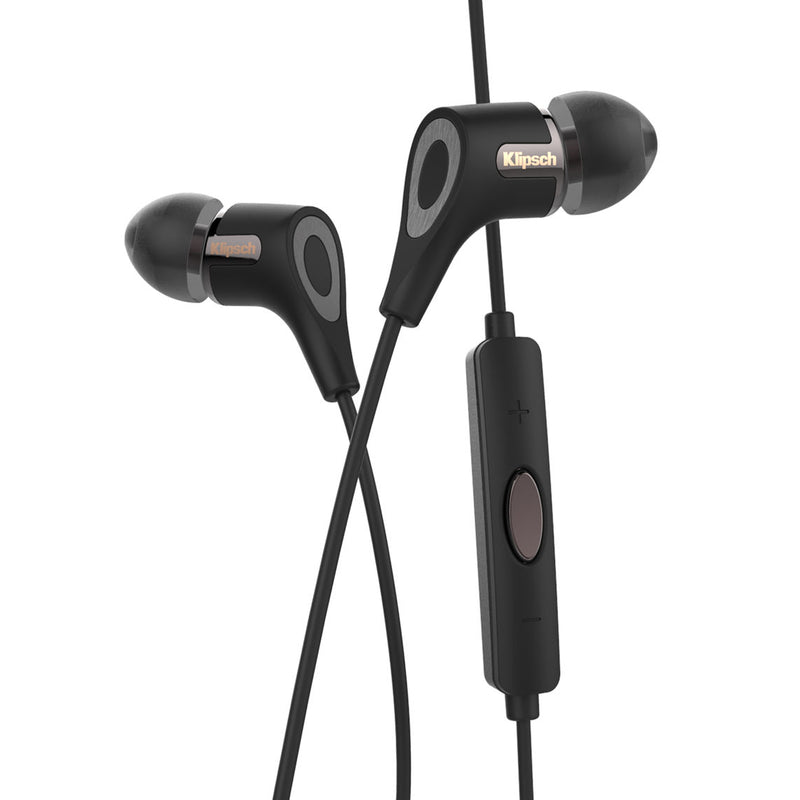 Klipsch R6i II In-Ear Headphones with In-Line Microphone and Remote (Black, iOS)