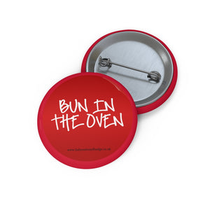 Red Bun in the Oven Baby on Board Badge