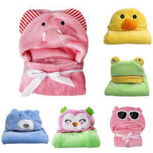 Load image into Gallery viewer, Soft Baby Animal Shaped Hooded Towel