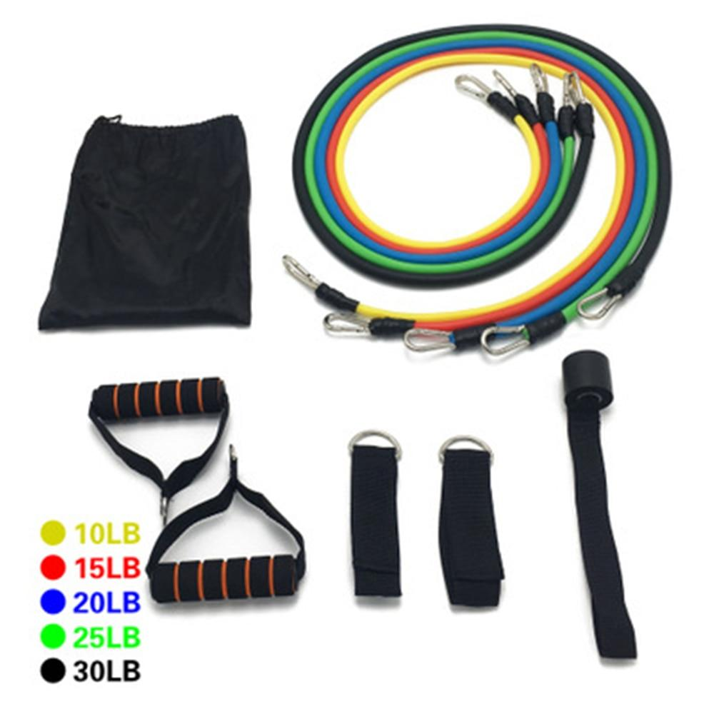 17Pcs/Set Door Ankle Strap Latex Resistance Bands For Home/Gym Workouts - Gymflexfitness