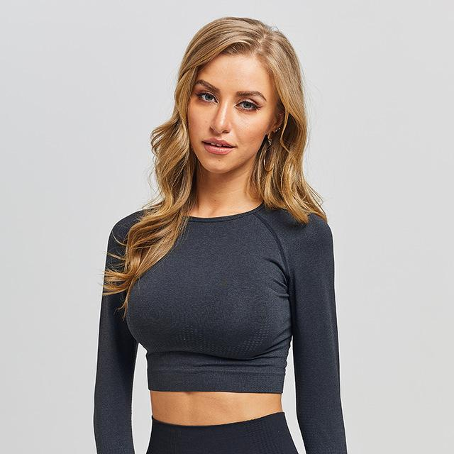 Gradient Seamless Sports Crop Top - Gymflexfitness